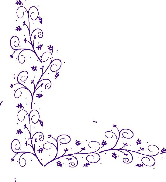 clipart royalty free download Purple Floral Corner Embellishment Clip Art at Clker
