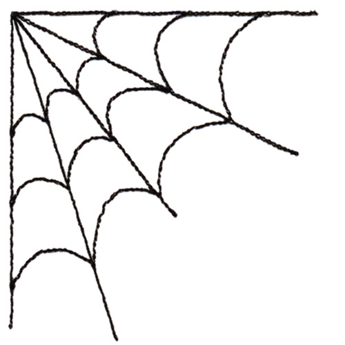 banner black and white library Free images download clip. Corner spider web clipart