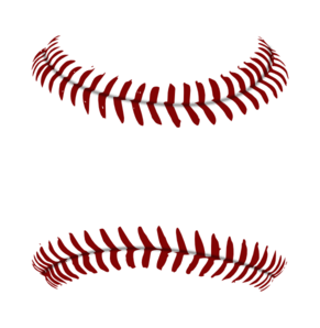 graphic black and white library Laces clipart. Red baseball lace stitches