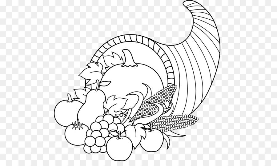 picture black and white Thanksgiving clip art . Cornucopia black and white clipart