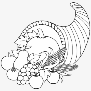picture black and white download Free cliparts . Cornucopia clipart black and white