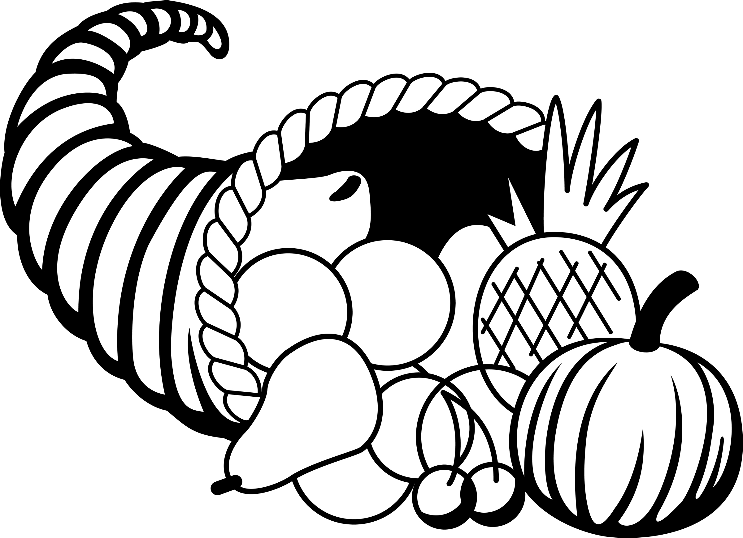 svg library download Pencil in color . Cornucopia clipart black and white