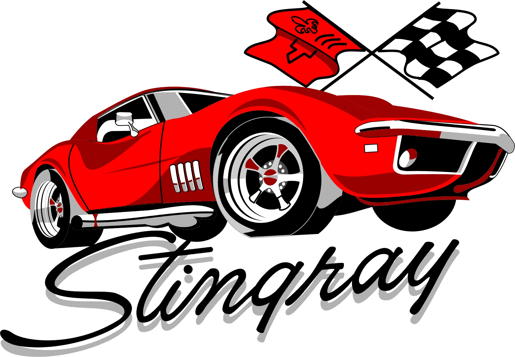 banner black and white stock Corvette stingray clipart. Free cliparts download clip.