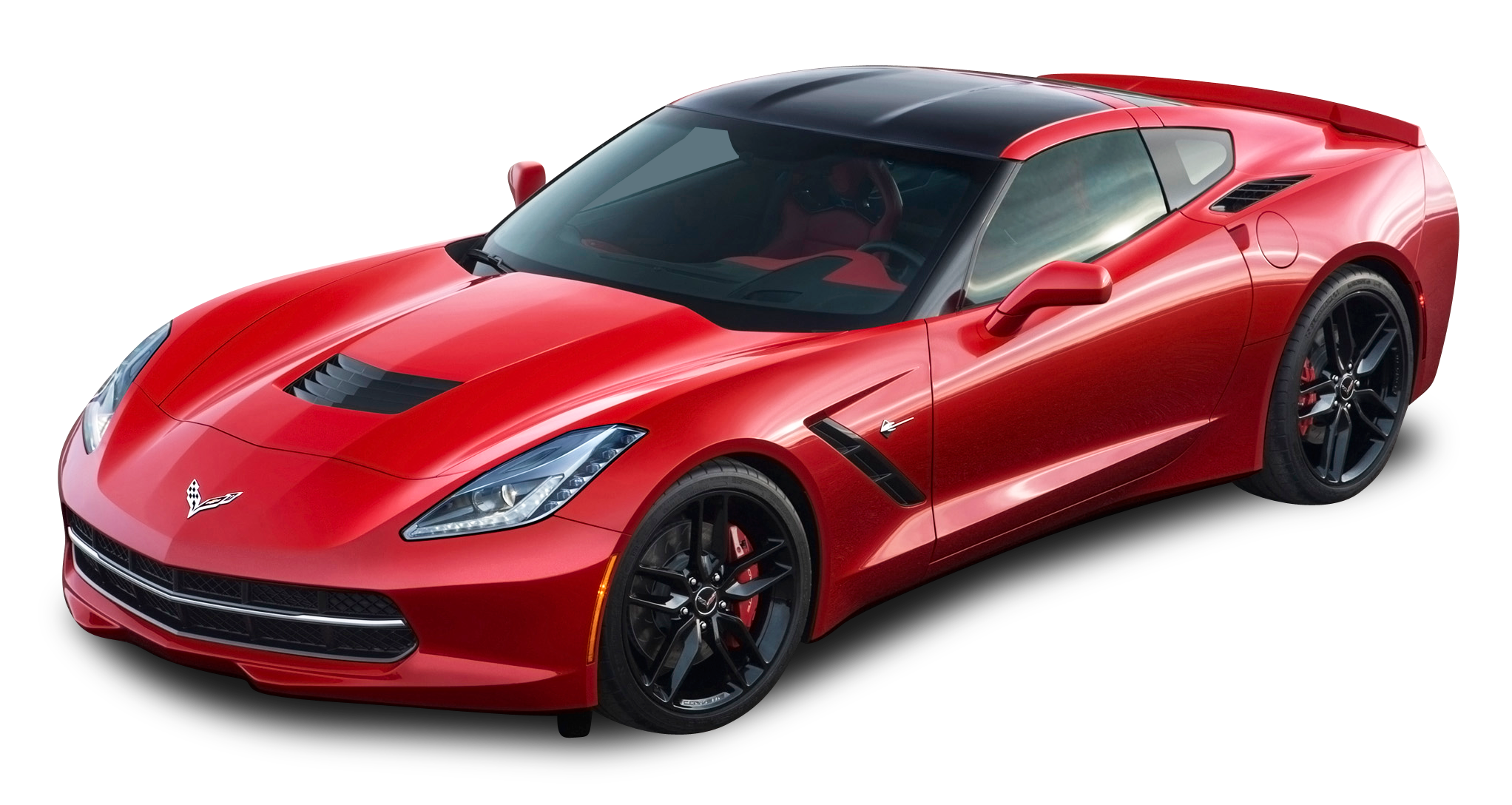 graphic freeuse stock Corvette stingray clipart. Red chevrolet top view.