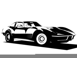 svg royalty free library Corvette stingray clipart. Free images at clker.