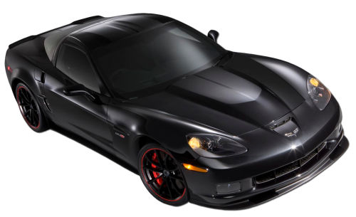 svg black and white library Black car png the. Corvette stingray clipart.