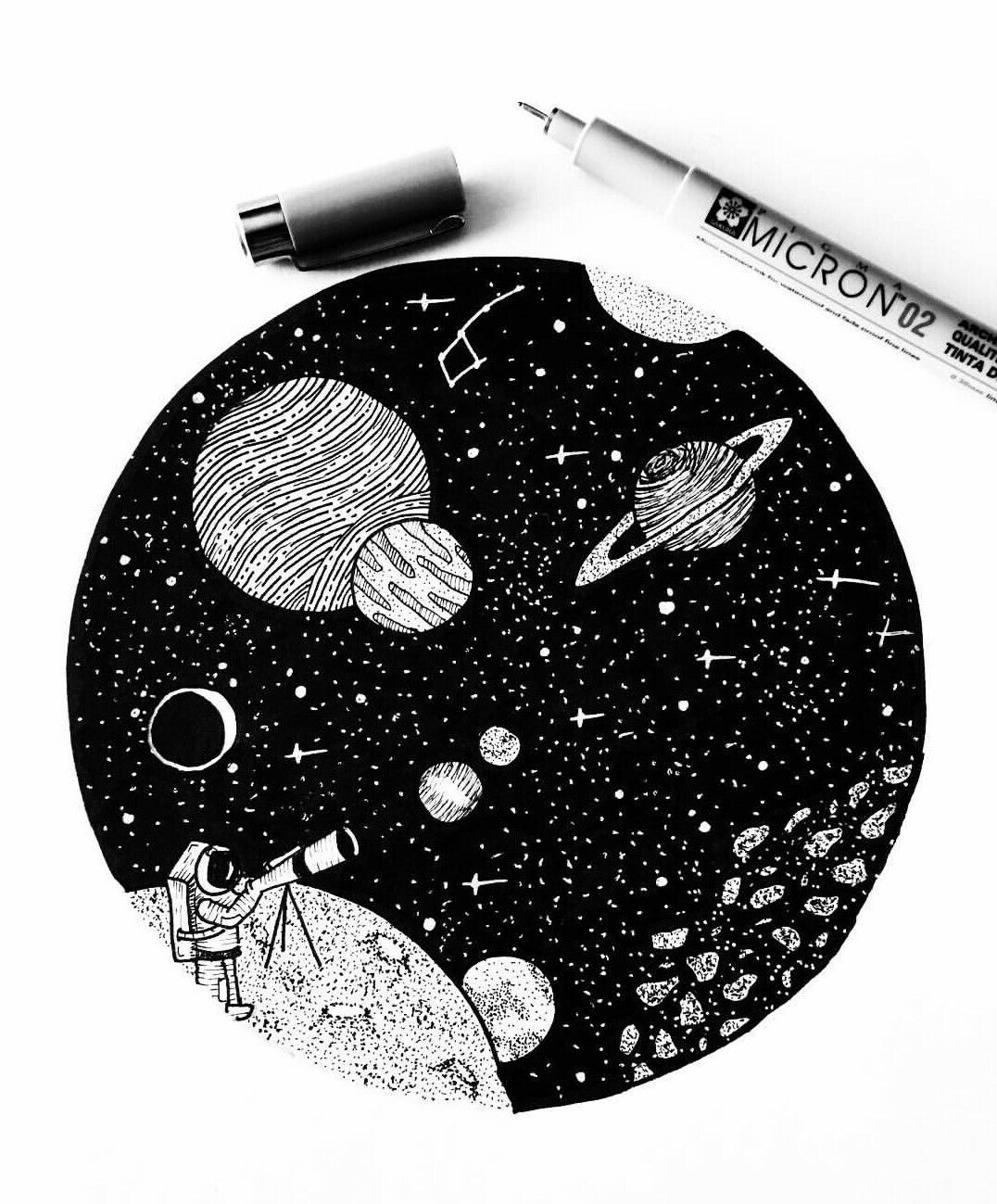 image stock Black pen drawings . Drawing s space