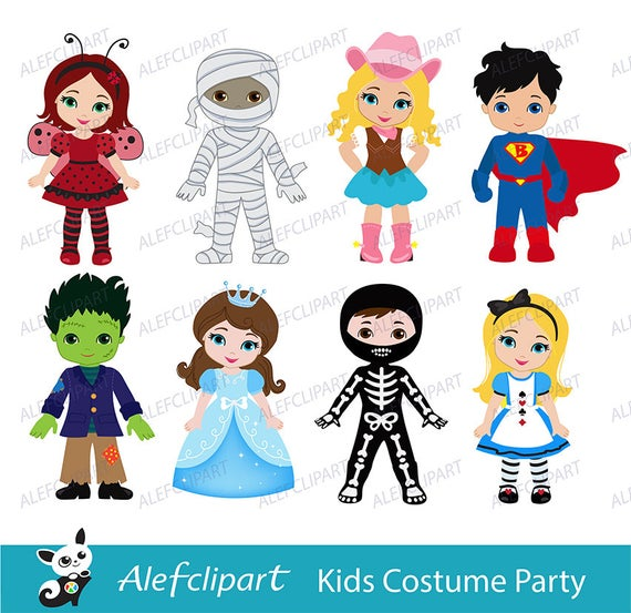 png transparent Costume clipart. Kids party digital cute.