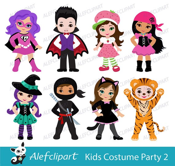 png transparent Kids party digital cute. Costume clipart.