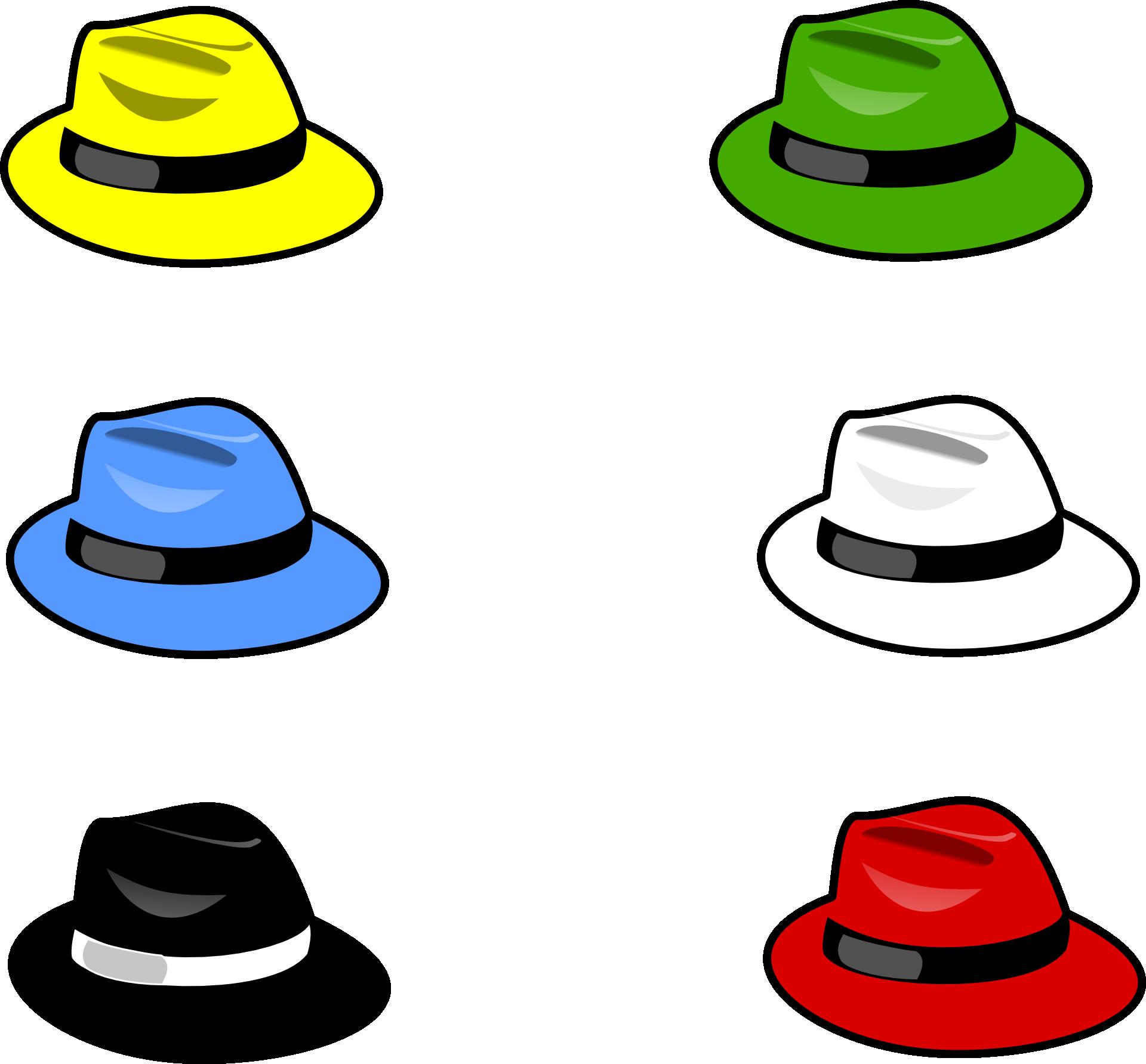 image free stock Six Thinking Hats Cap Clip art