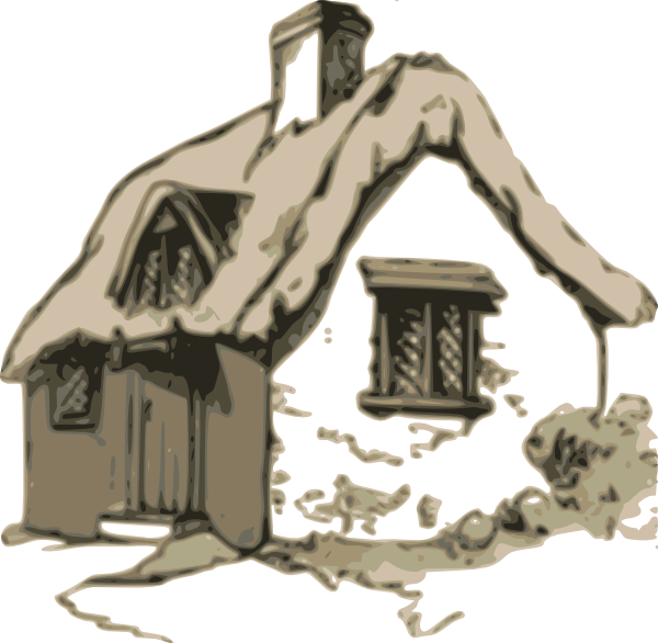 image black and white library Cottage clipart. Clip art at clker.