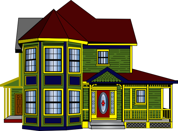 png library Colorful Cottage Clip Art at Clker