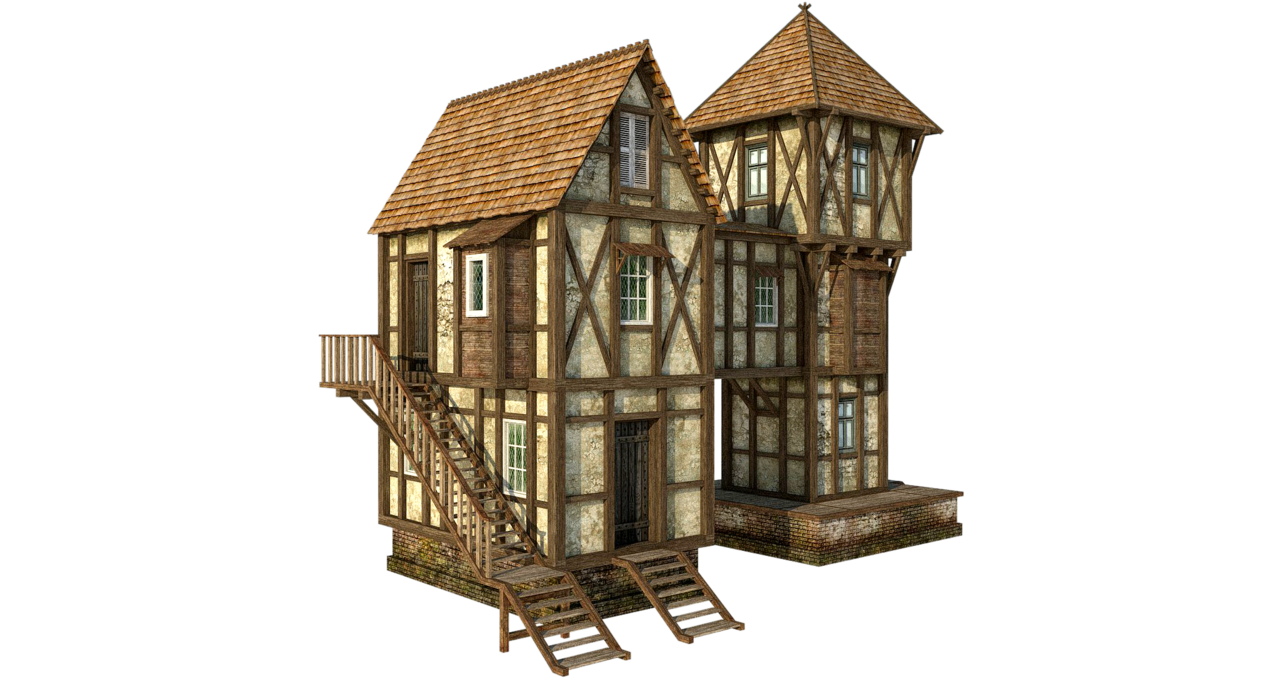image library Peasant cool minecraft with. Cottage clipart medieval house