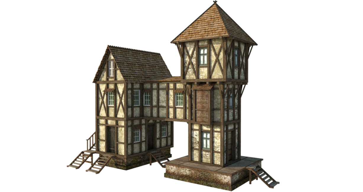 clip art free download By fumar porros on. Cottage clipart medieval house