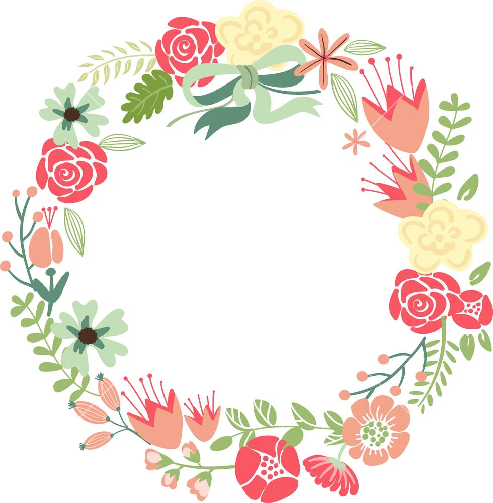 vector free Imagen relacionada pinterest relief. Cotton wreath clipart