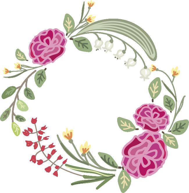 clip art transparent Cotton wreath clipart. Transparent flower material for