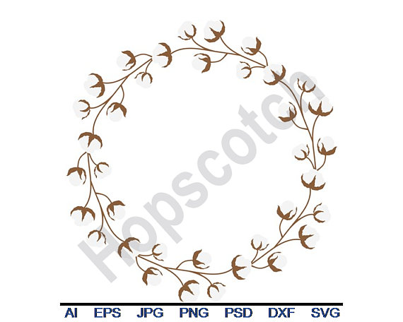 png library download Pin by etsy on. Cotton wreath clipart