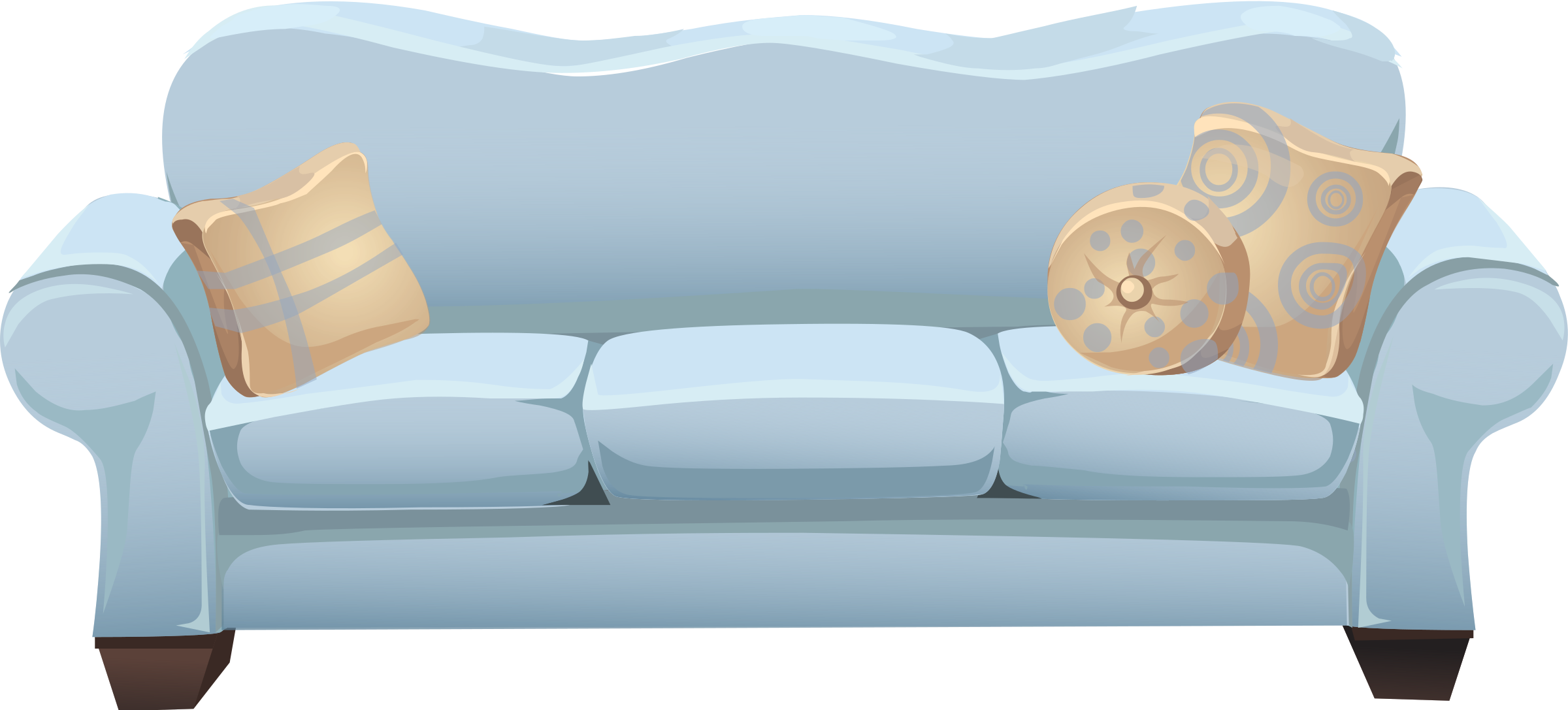 graphic library stock Couch clipart. Lounge blue free on