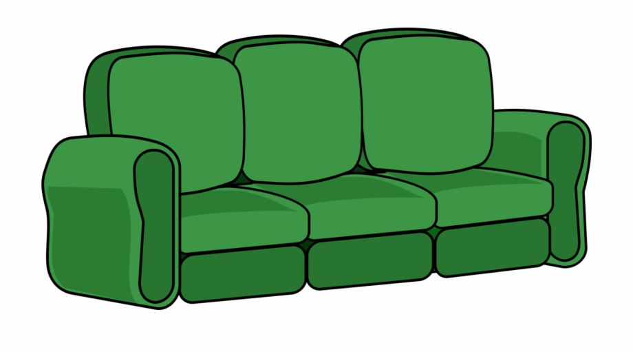picture free Couch clipart. Sofa green hd png.