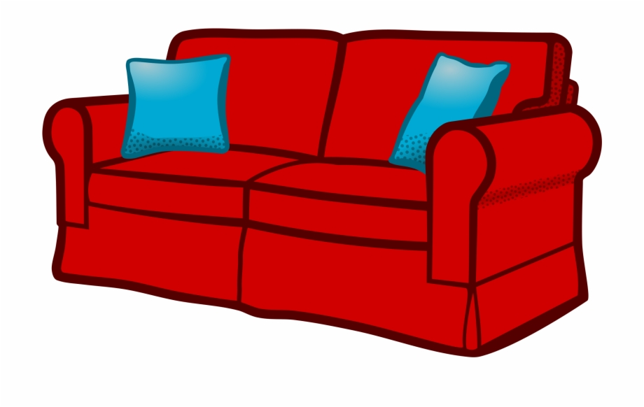 clipart black and white Furniture sofa interior seat. Couch clipart