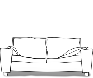 picture freeuse download Couch clipart. White clip art panda