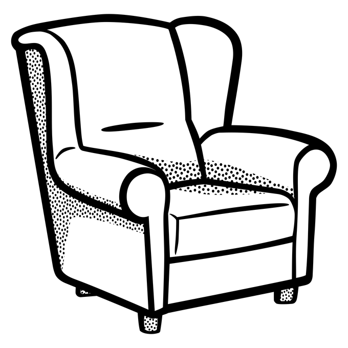 clip free Sofa Set Clipart Black And White