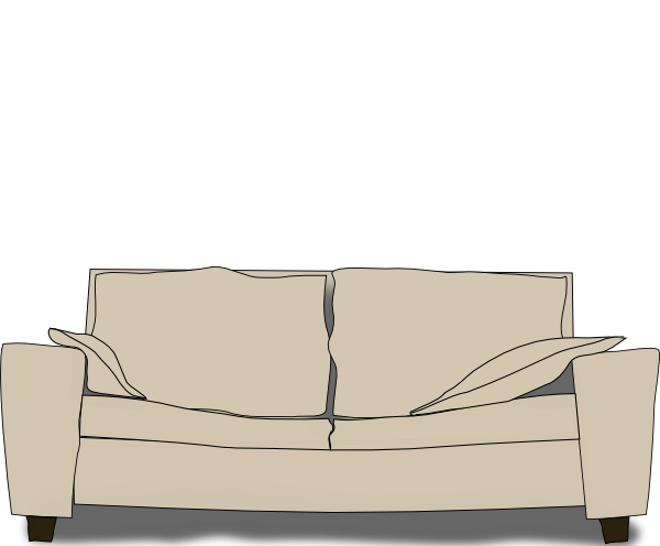 vector black and white library Couch Clip Art at Clker