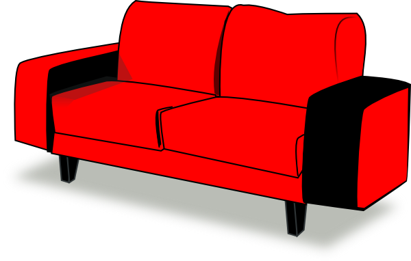 picture stock Sofa Clipart blue couch