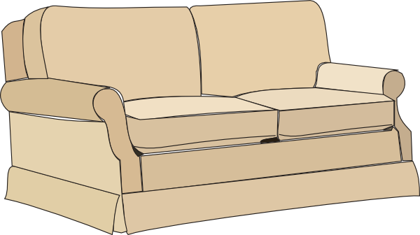 clip stock Sofa Clip Art at Clker