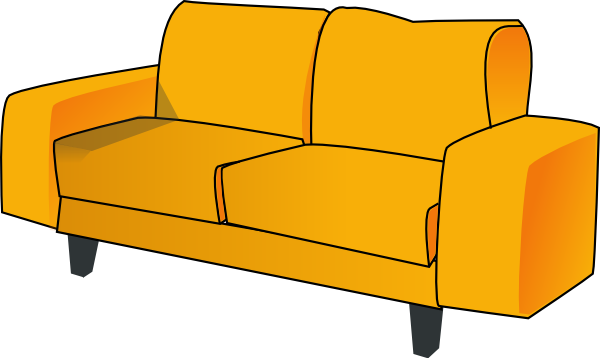 svg royalty free Couch Clip Art