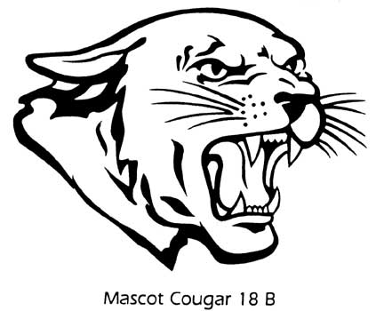 clipart freeuse Cougar clipart. Mascot look at clip