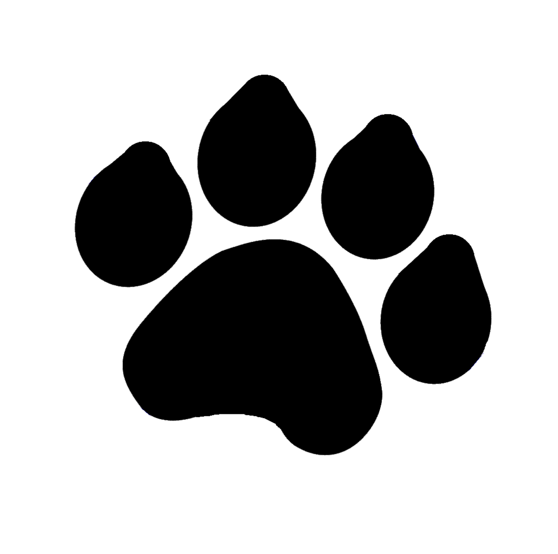freeuse library Print silhouette at getdrawings. Bones vector dog paw