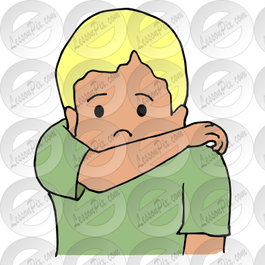 jpg freeuse stock Elbow clipart. Cough in picture for.