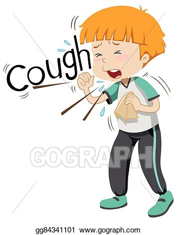 banner freeuse Vector art coughing hard. Cough clipart sick boy