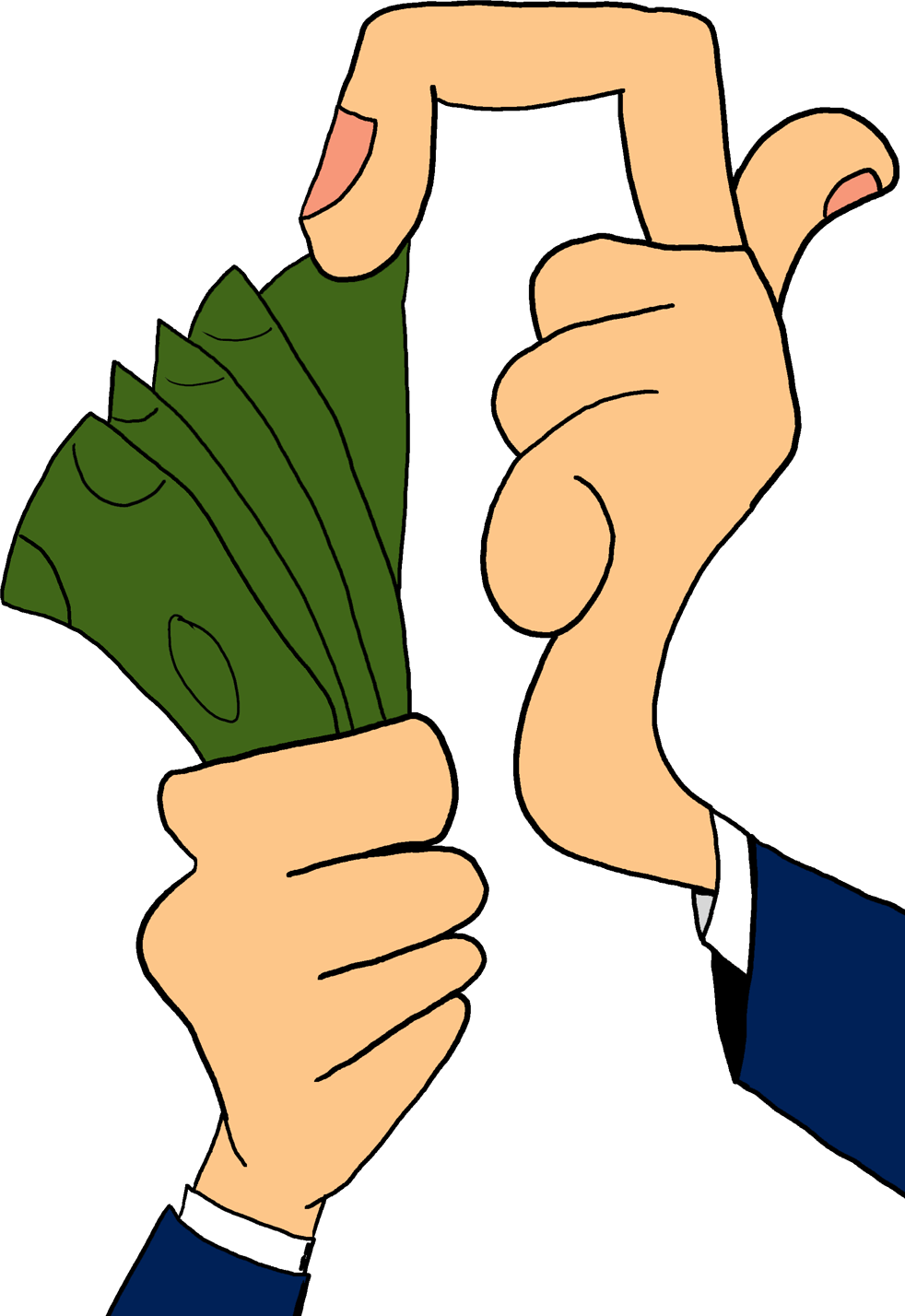 graphic free download counting money clipart #65992727