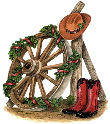svg free download Christmas clip art. Country western clipart