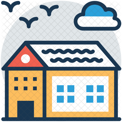 clipart transparent stock Country svg farmhouse. Icon real estate building