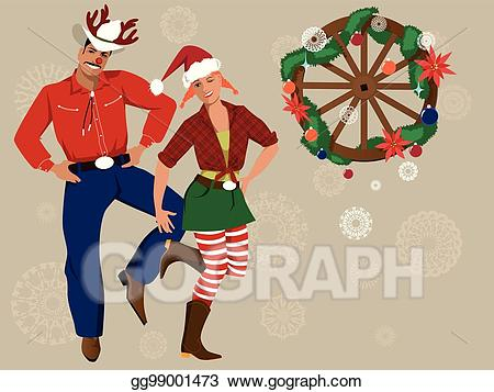 jpg library Eps vector background stock. Country western christmas clipart
