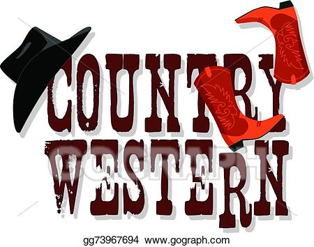 svg library stock Country western clipart. Eps illustration banner vector