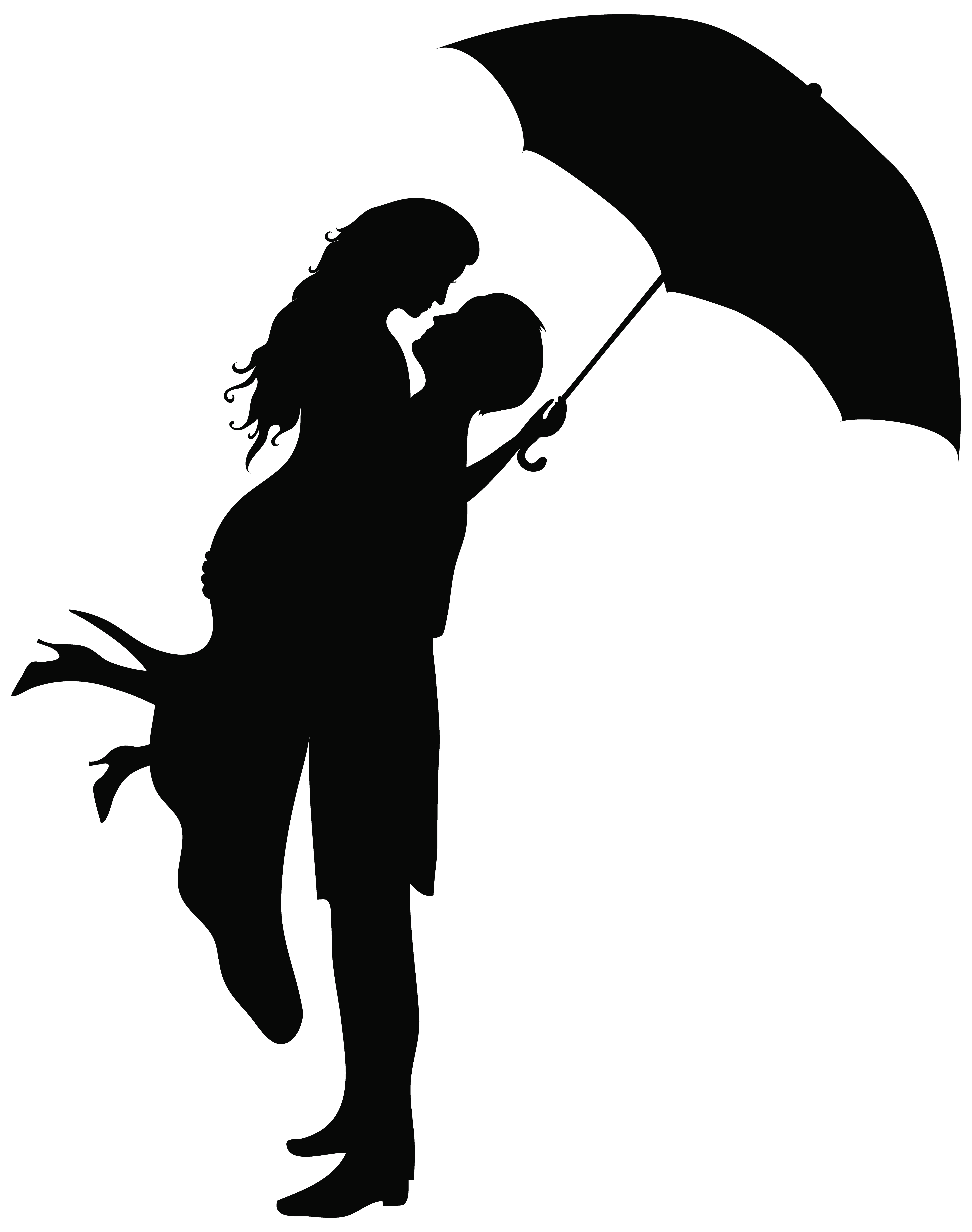 svg black and white library Couple clipart. Romantic silhouettes png clip