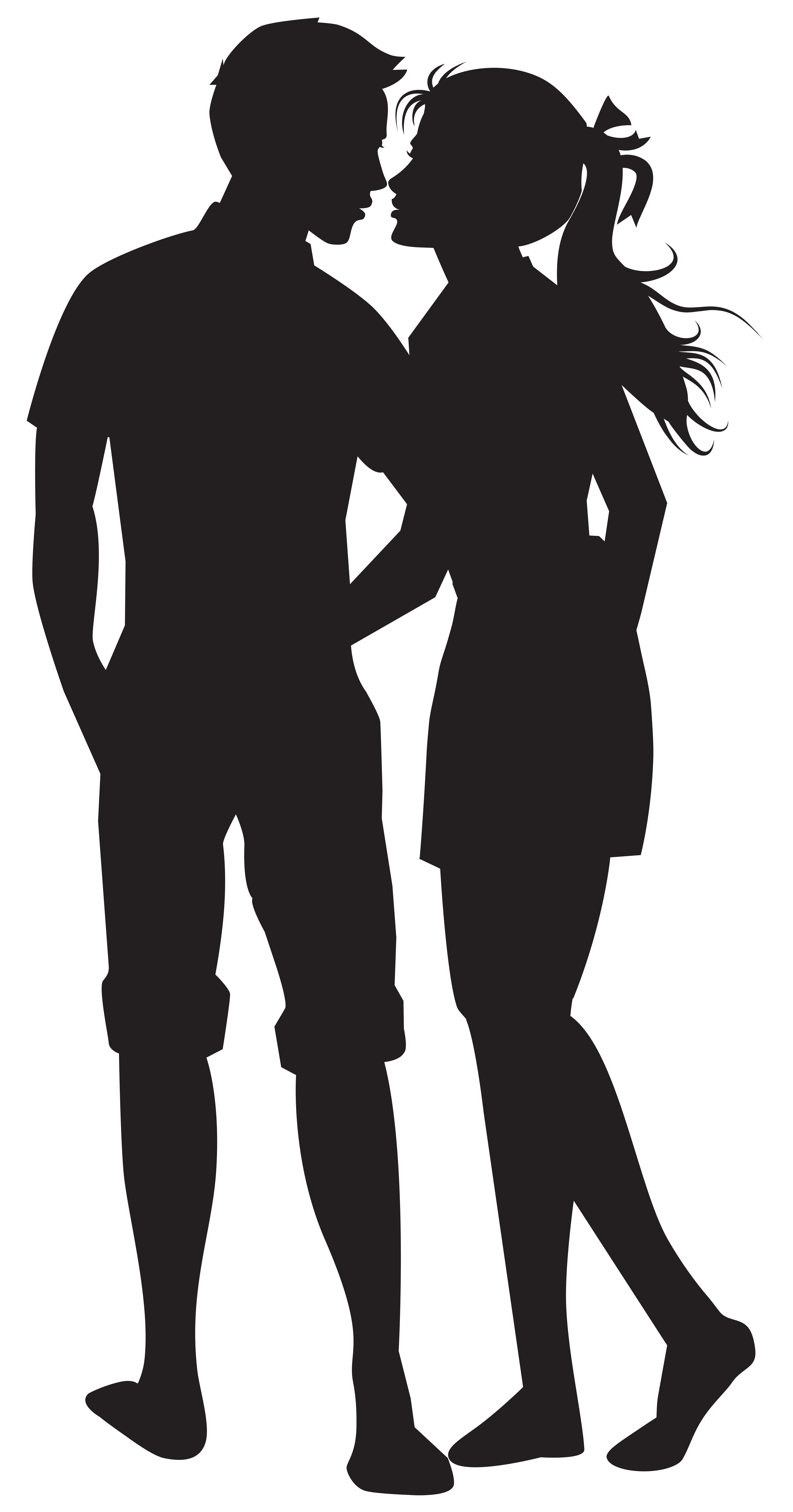 graphic black and white library Couple png silhouettes clip. Vector band shadow