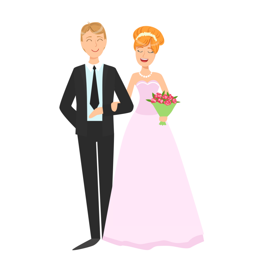 picture black and white stock Couple png image transparent. Vector cartoons wedding