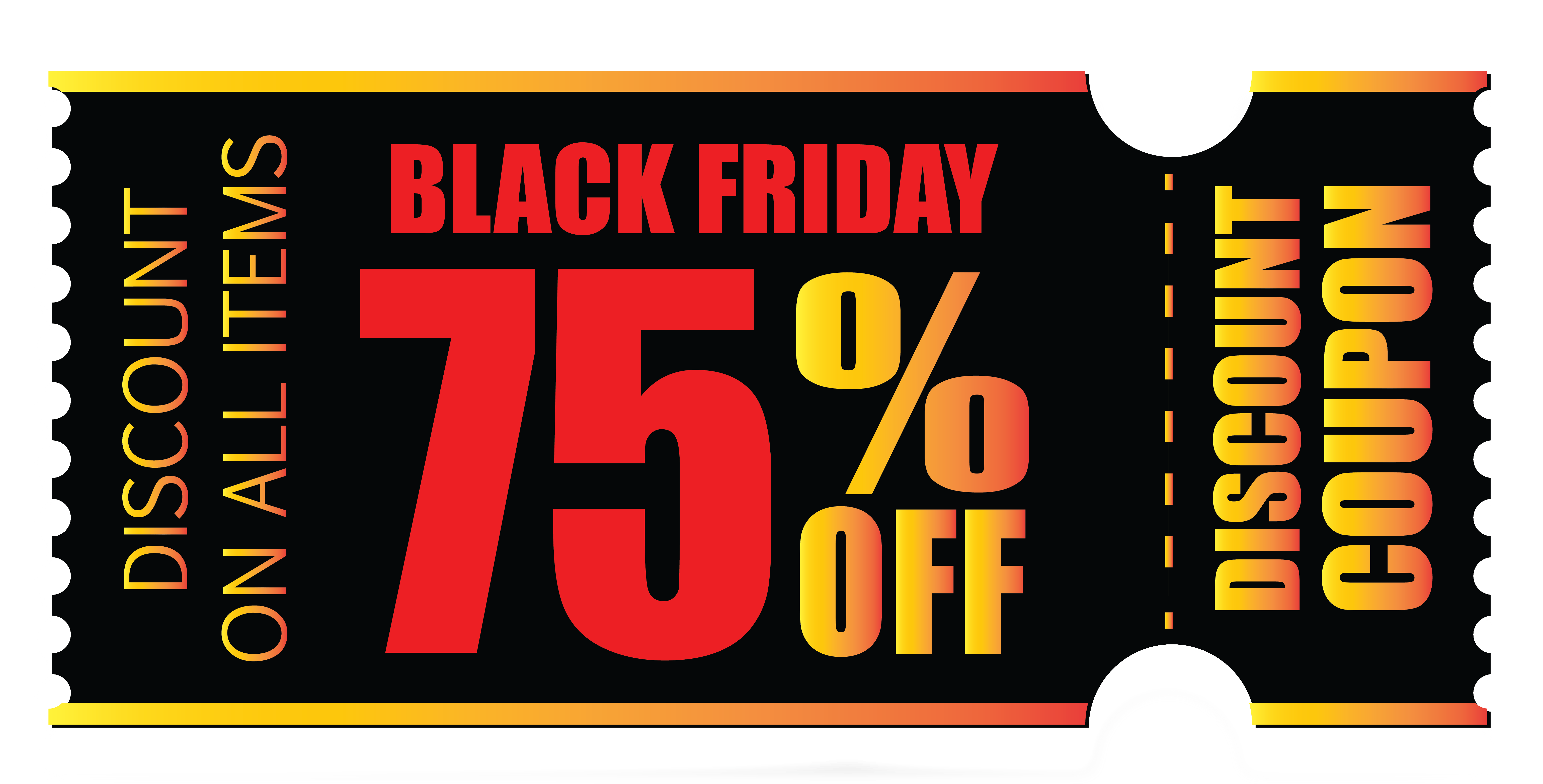 banner free download Black friday png image. Coupon clipart.