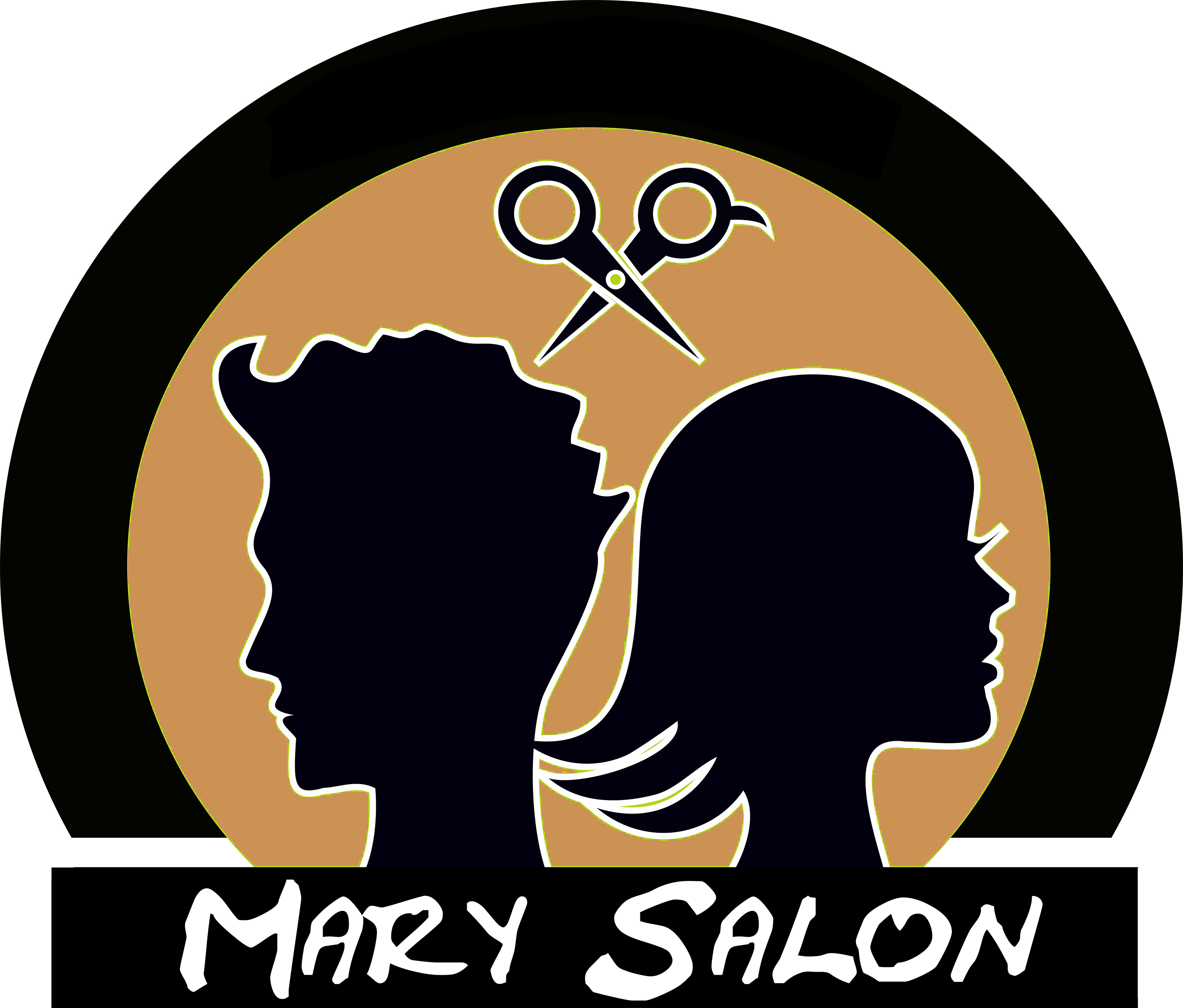 graphic transparent stock Mary Beauty Salon