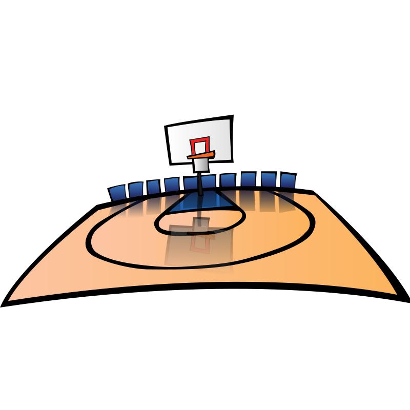graphic library download Basketball clip art panda. Court clipart