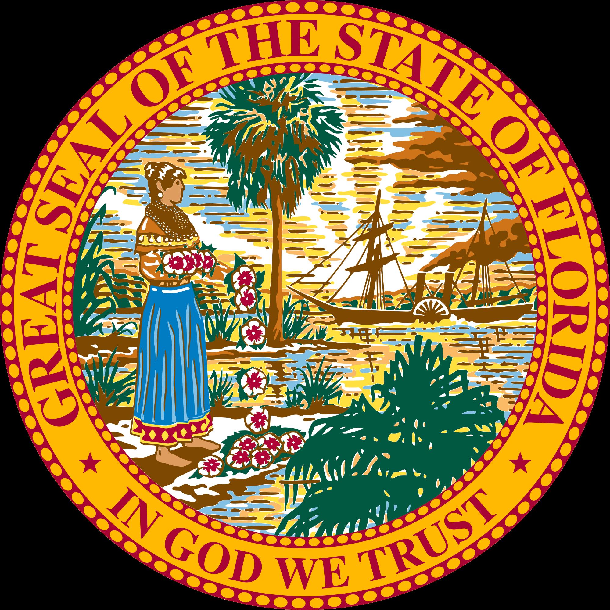 jpg transparent stock Manatee clipart vector. Florida legislature wikipedia coat.
