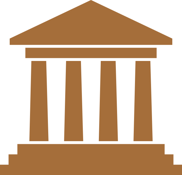 jpg freeuse library City hall brown clip. Courthouse clipart