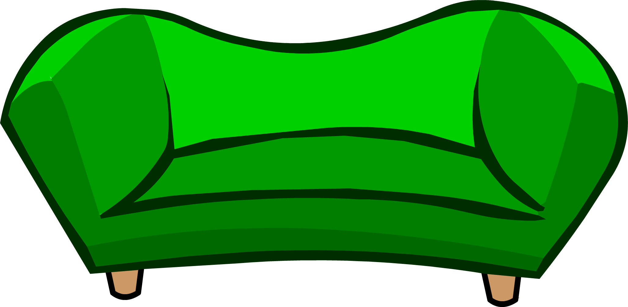 clipart freeuse download Couch clipart green couch