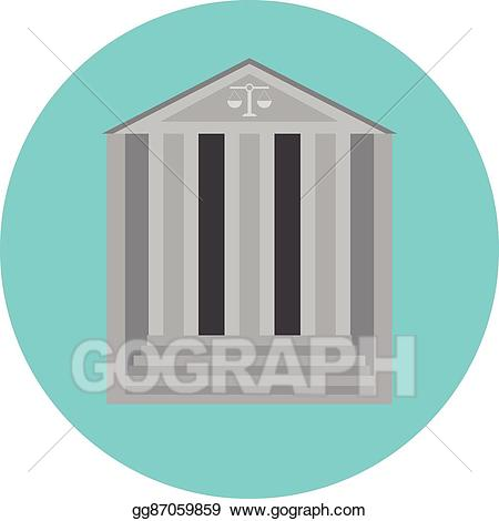 jpg royalty free download Eps illustration concept icon. Courthouse clipart government