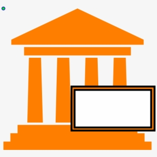 freeuse library Courthouse clipart government. Hot orange clip art